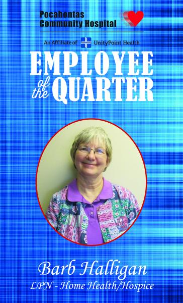 Barb Halligan Named Employee of the Quarter