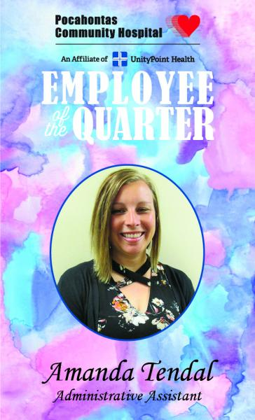 Amanda Tendal Named Employee of the Quarter