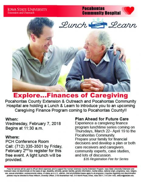 Caregiving Finance Program Lunch & Learn to be Held
