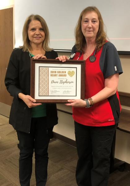 Diane Stephenson Receives Golden Heart Award